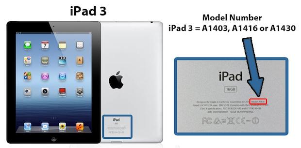iPad Model Numarası