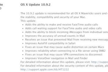 OS X 10.9.2 yayınlandı.
