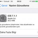 iOS 7.1.1 yayınlandı.