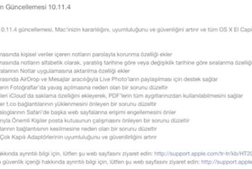OS X El Capitan 10.11.4 Güncellenmesi Yayınlandı