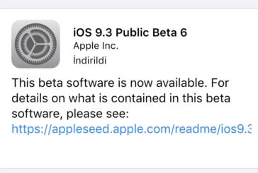 iOS 9.3 Beta 6 Güncellemesi Yayınlandı