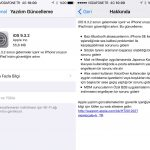 iOS 9.3.2 Gece Modu ve Düşük Güç Modu ile Yayınlandı.