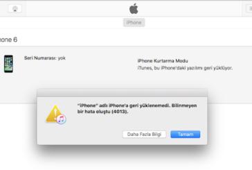 iTunes 4013 hatası ve Çözümü