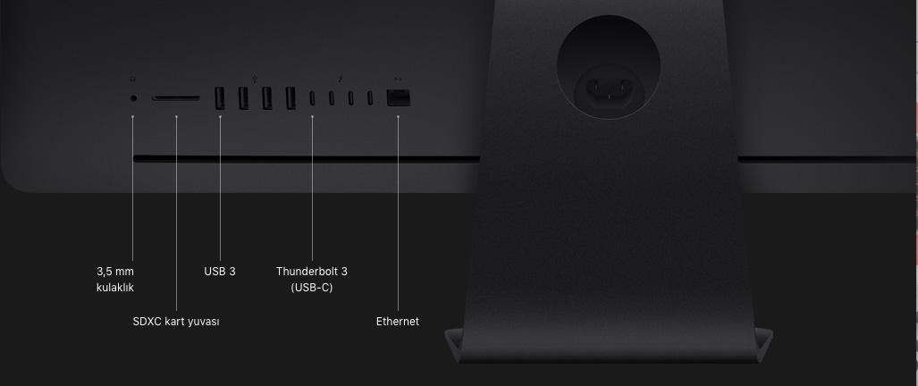 iMac Pro Teknik Özellikleri (27 inç, 5K Retina Ekran, 2017)