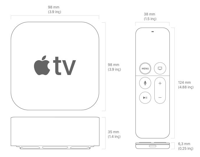 Apple TV 4K 5. Nesil Teknik Özellikleri (Eylül 2017)