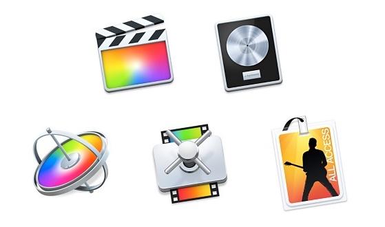 Apple'ın Mac için geliştirdiği profesyonel 5 uygulamalar/programlar