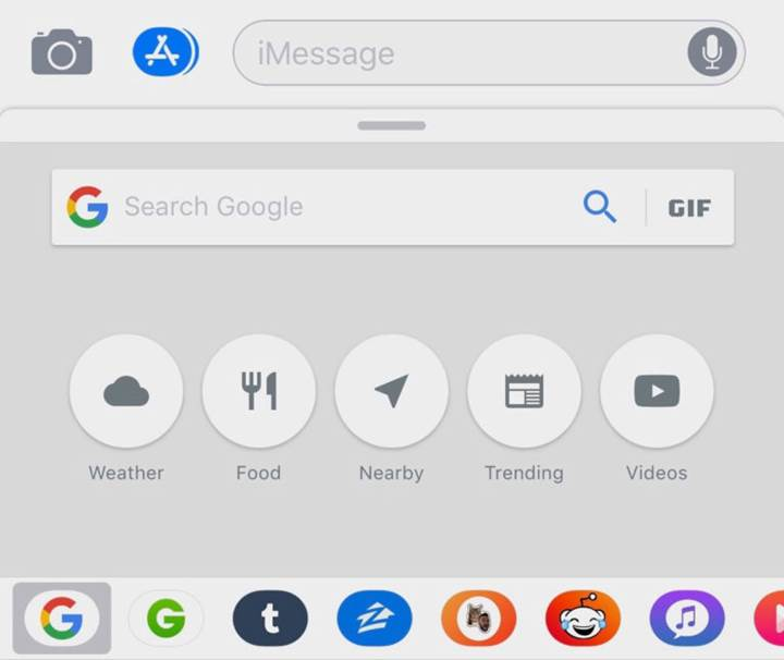 iMessage içerisinden Google araması yapabilirsiniz.
